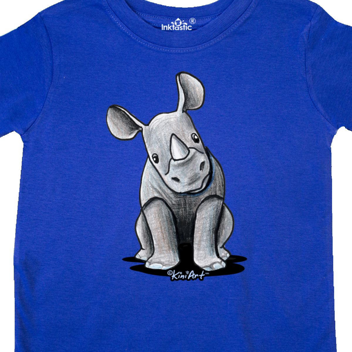 Inktastic-Curious-Rhinos-Toddler-T-Shirt-KiniArt-Rhino-Rhinoceros-Art-Cartoon thumbnail 28