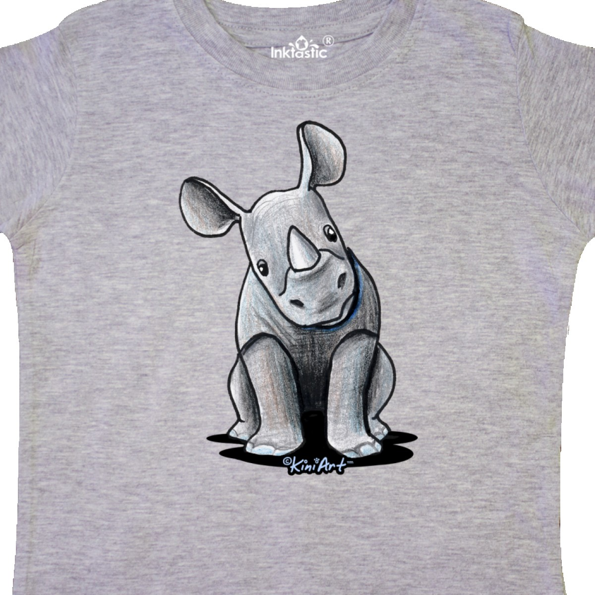 Inktastic-Curious-Rhinos-Toddler-T-Shirt-KiniArt-Rhino-Rhinoceros-Art-Cartoon thumbnail 12