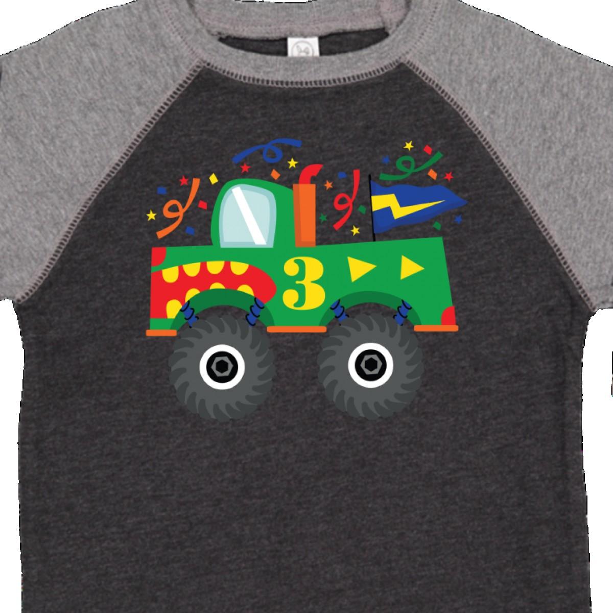 Inktastic 3rd Birthday Monster Truck Toddler T Shirt