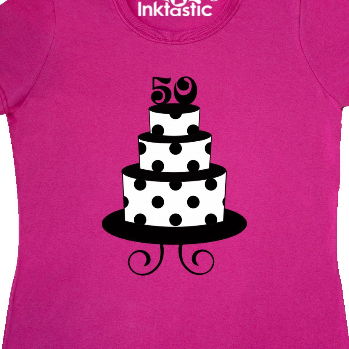 Inktastic 50th Birthday Cake Women 039 S T Shirt