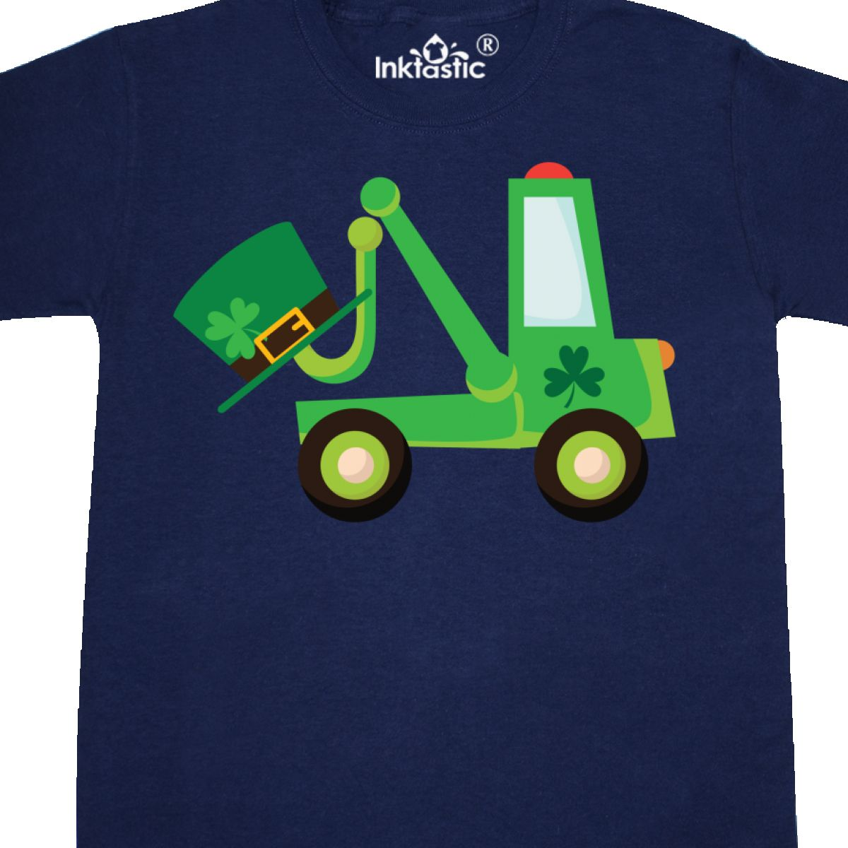 Inktastic-St-Patricks-Tow-Truck-Youth-T-Shirt-Irish-Green-Clover-Paddys-Babys thumbnail 6
