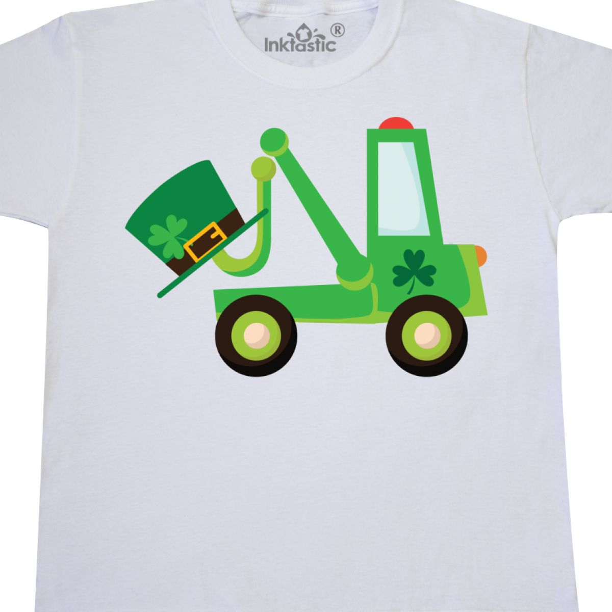 Inktastic-St-Patricks-Tow-Truck-Youth-T-Shirt-Irish-Green-Clover-Paddys-Babys thumbnail 8