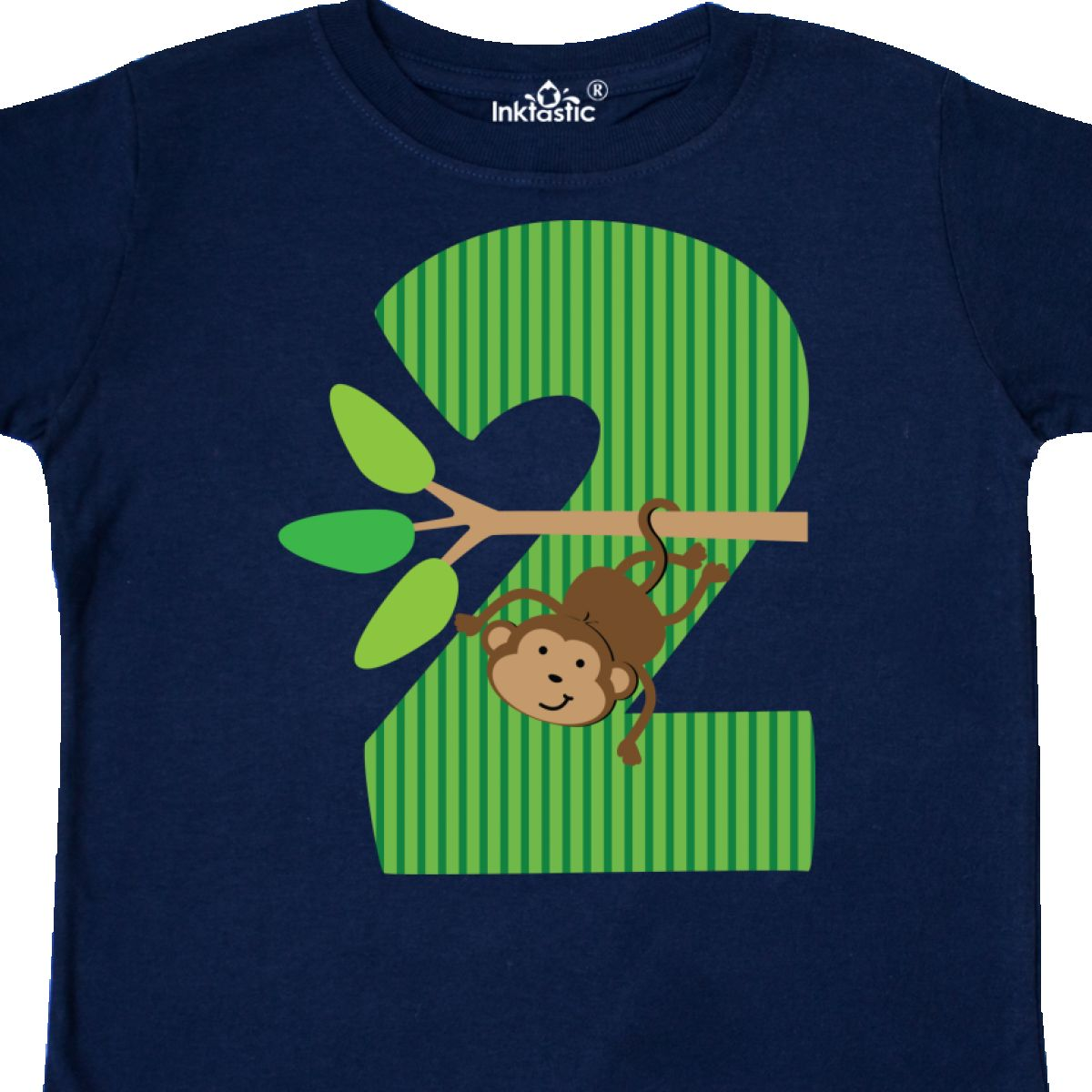 Inktastic 2nd Birthday Jungle Monkey Childs Toddler T