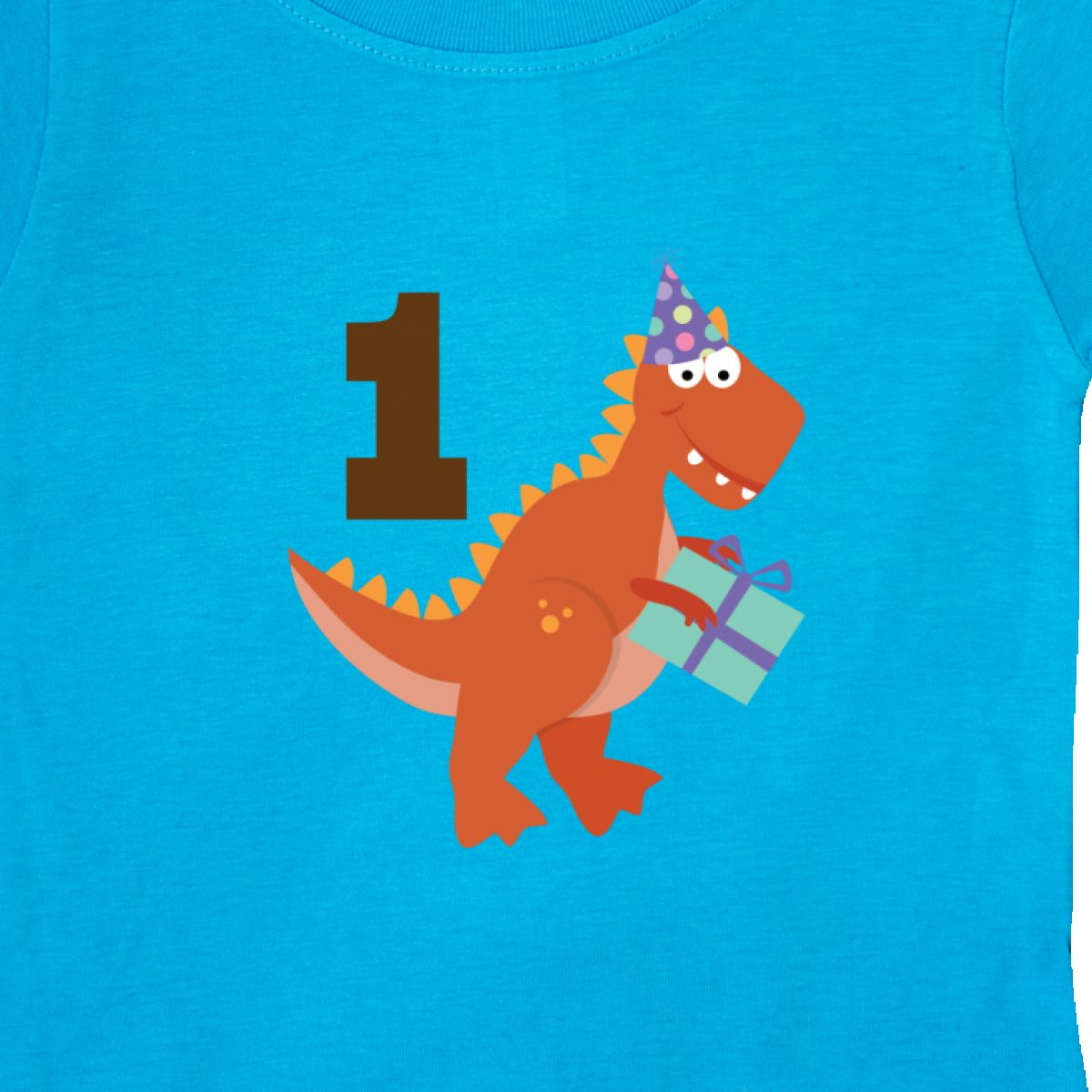8d80cafd9 Inktastic 1st Birthday Dinosaur Party Baby T-Shirt First Kids Babys ...