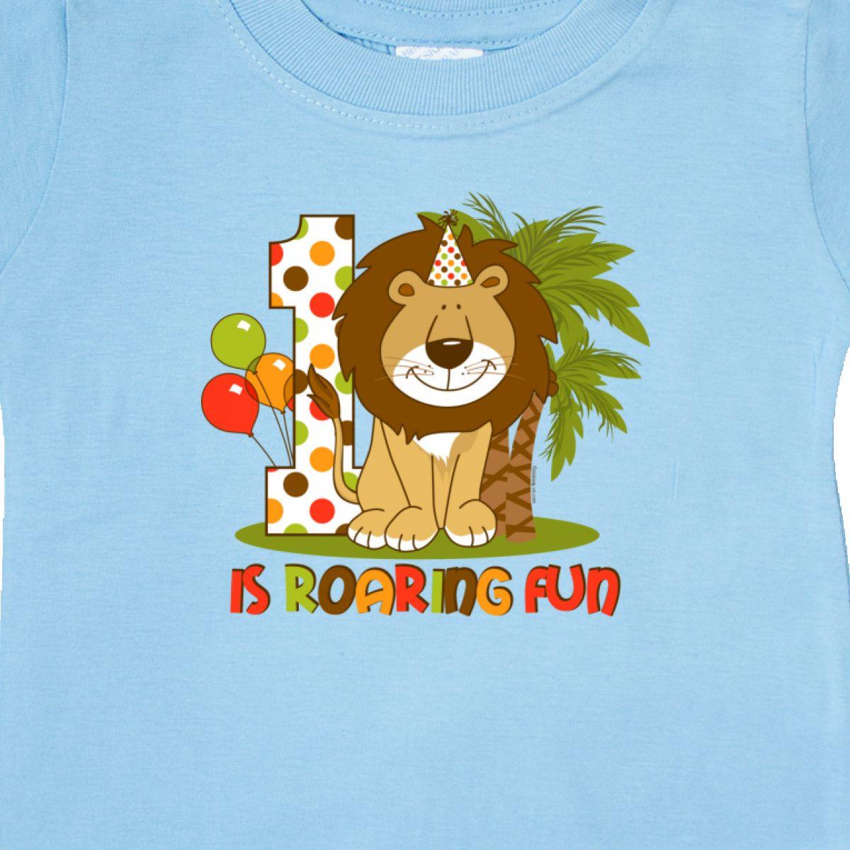 Inktastic-Cute-Lion-1st-Birthday-Baby-T-Shirt-Roaring-Fun-Pinkinkartkids-First thumbnail 12