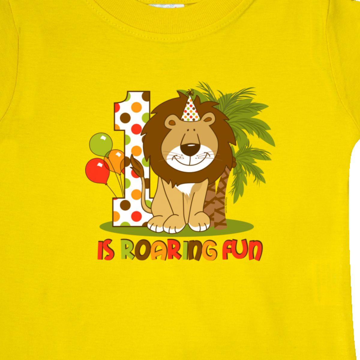 Inktastic-Cute-Lion-1st-Birthday-Baby-T-Shirt-Roaring-Fun-Pinkinkartkids-First thumbnail 24