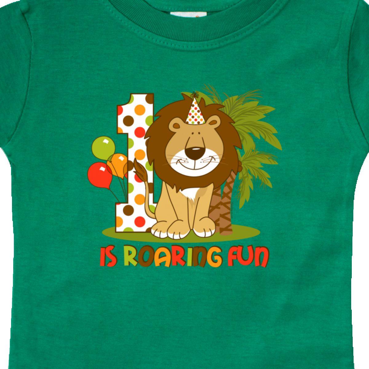 Inktastic-Cute-Lion-1st-Birthday-Baby-T-Shirt-Roaring-Fun-Pinkinkartkids-First thumbnail 8
