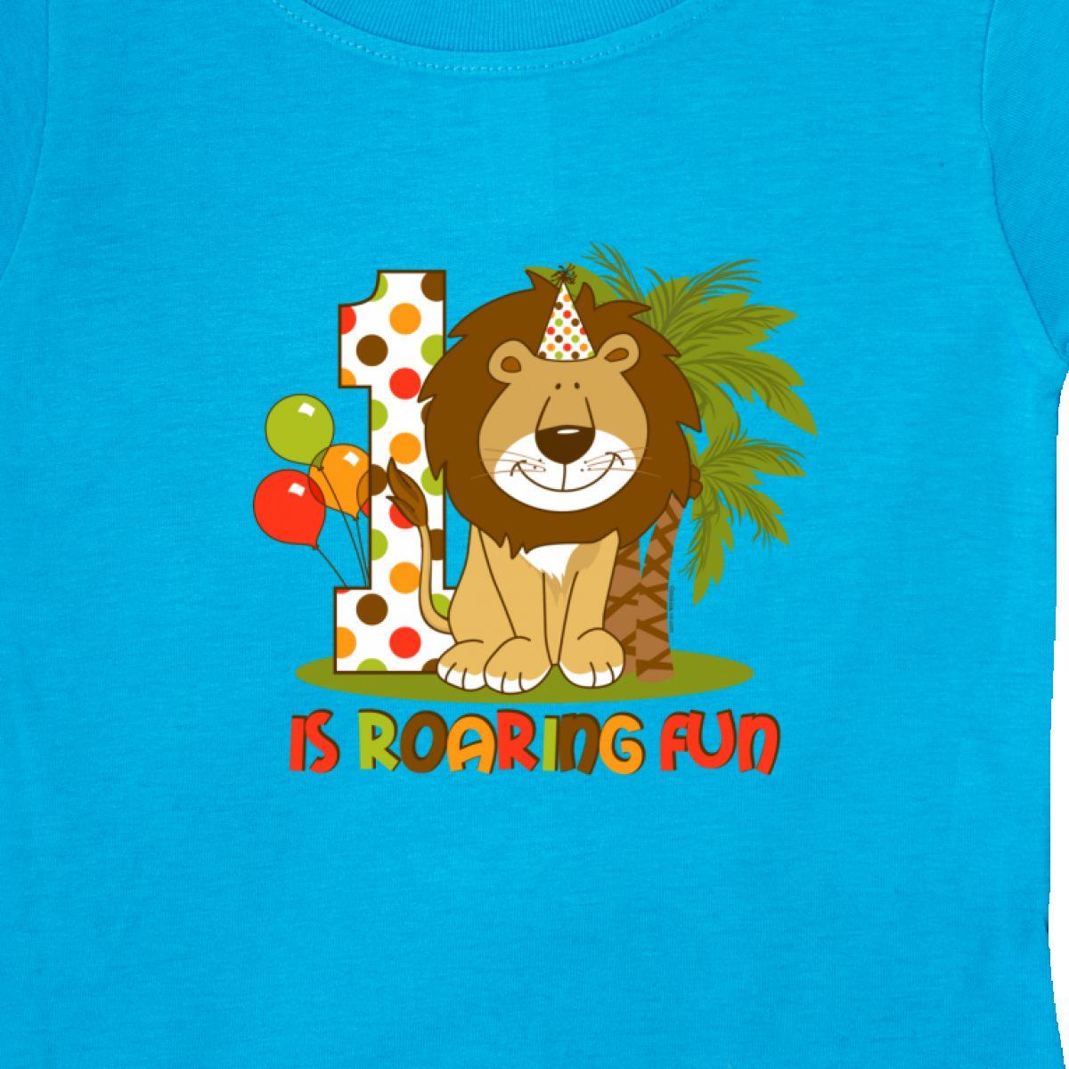Inktastic-Cute-Lion-1st-Birthday-Baby-T-Shirt-Roaring-Fun-Pinkinkartkids-First thumbnail 20