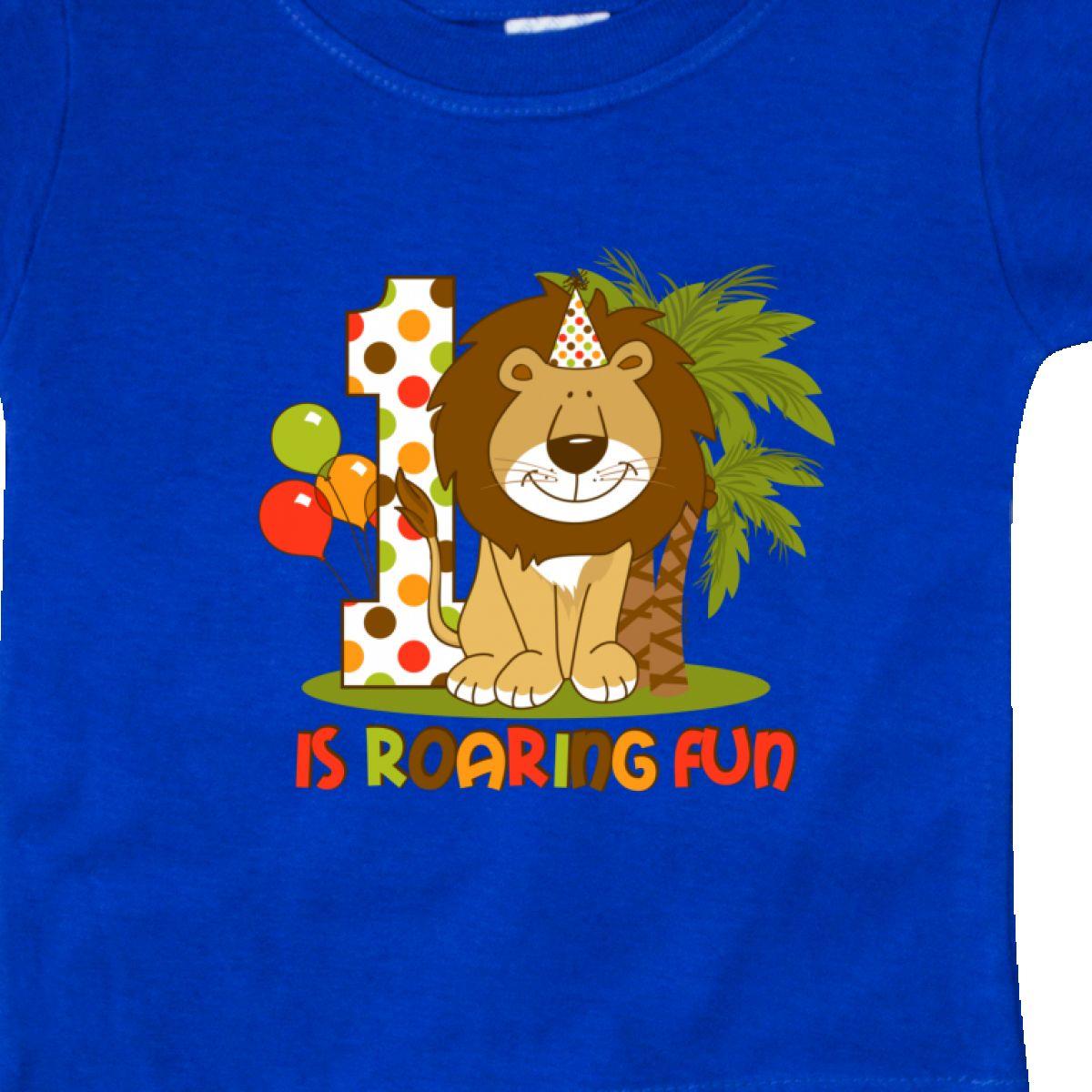 Inktastic-Cute-Lion-1st-Birthday-Baby-T-Shirt-Roaring-Fun-Pinkinkartkids-First thumbnail 18