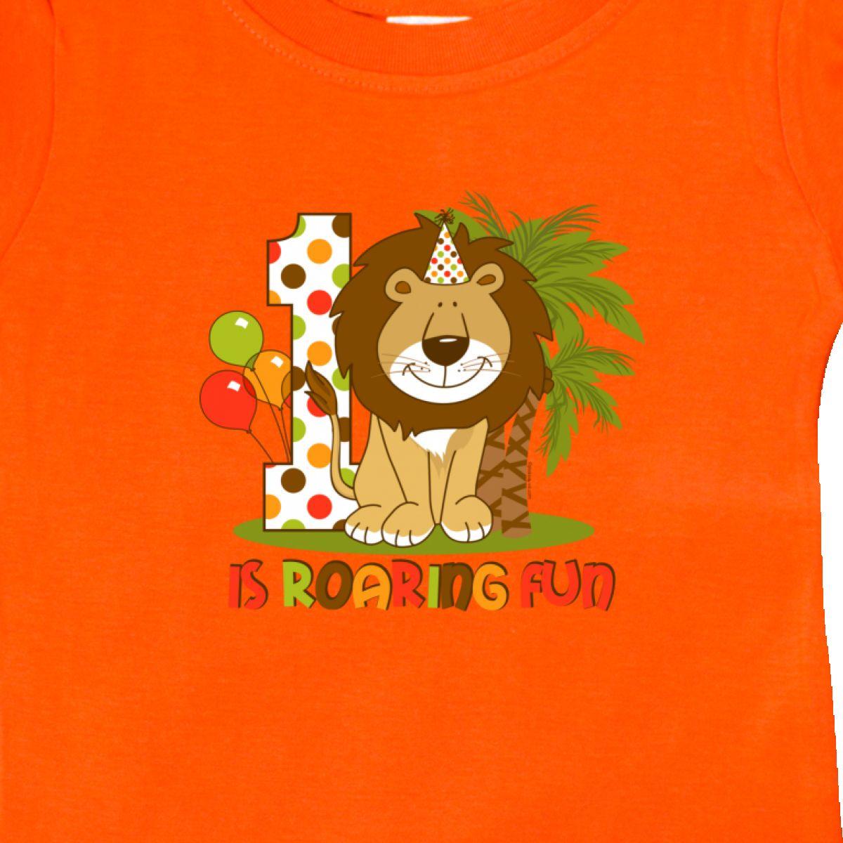 Inktastic-Cute-Lion-1st-Birthday-Baby-T-Shirt-Roaring-Fun-Pinkinkartkids-First thumbnail 16
