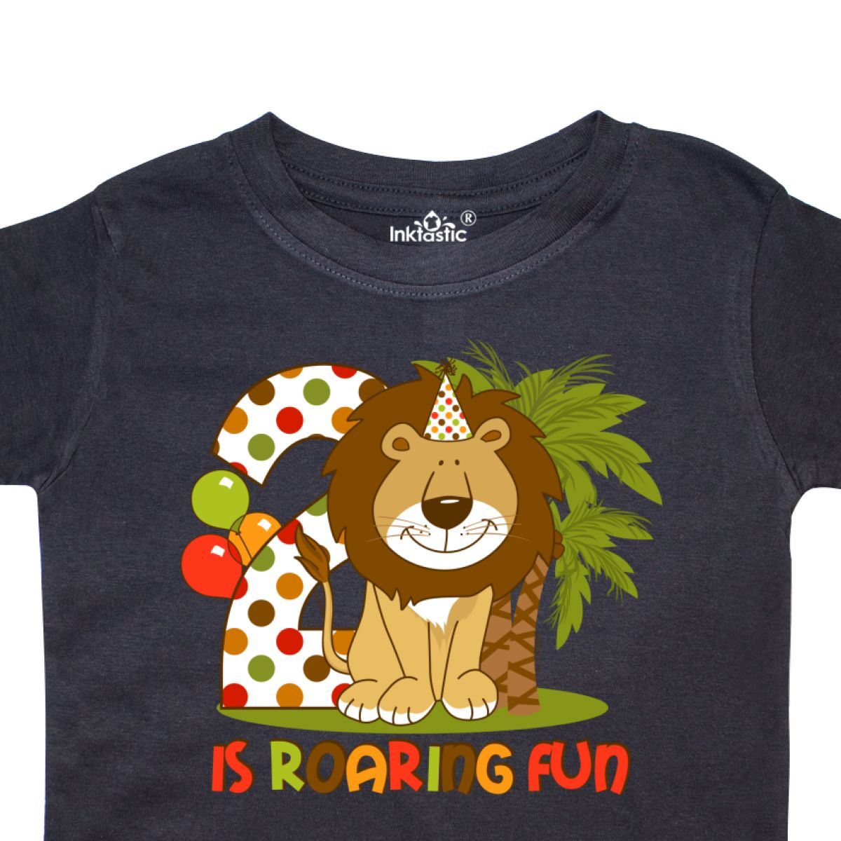 INKtastic Cute Lion 2nd Birthday Toddler T Shirt King Of The Jungle