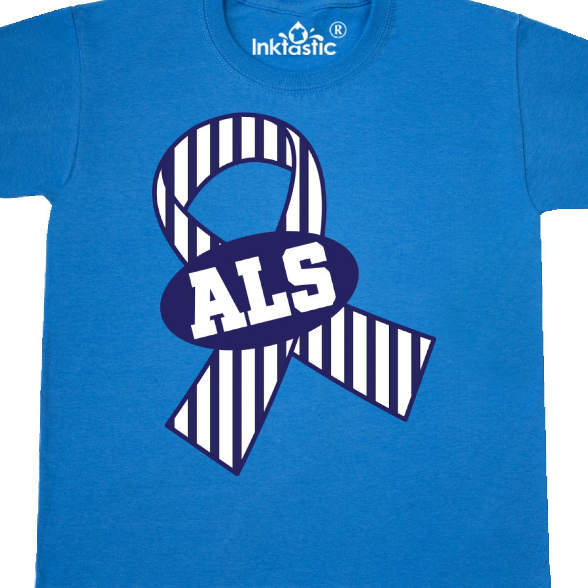 Details about Inktastic ALS Awareness Ribbon Youth T-Shirt Amyotrophic  Lateral Sclerosis Blue