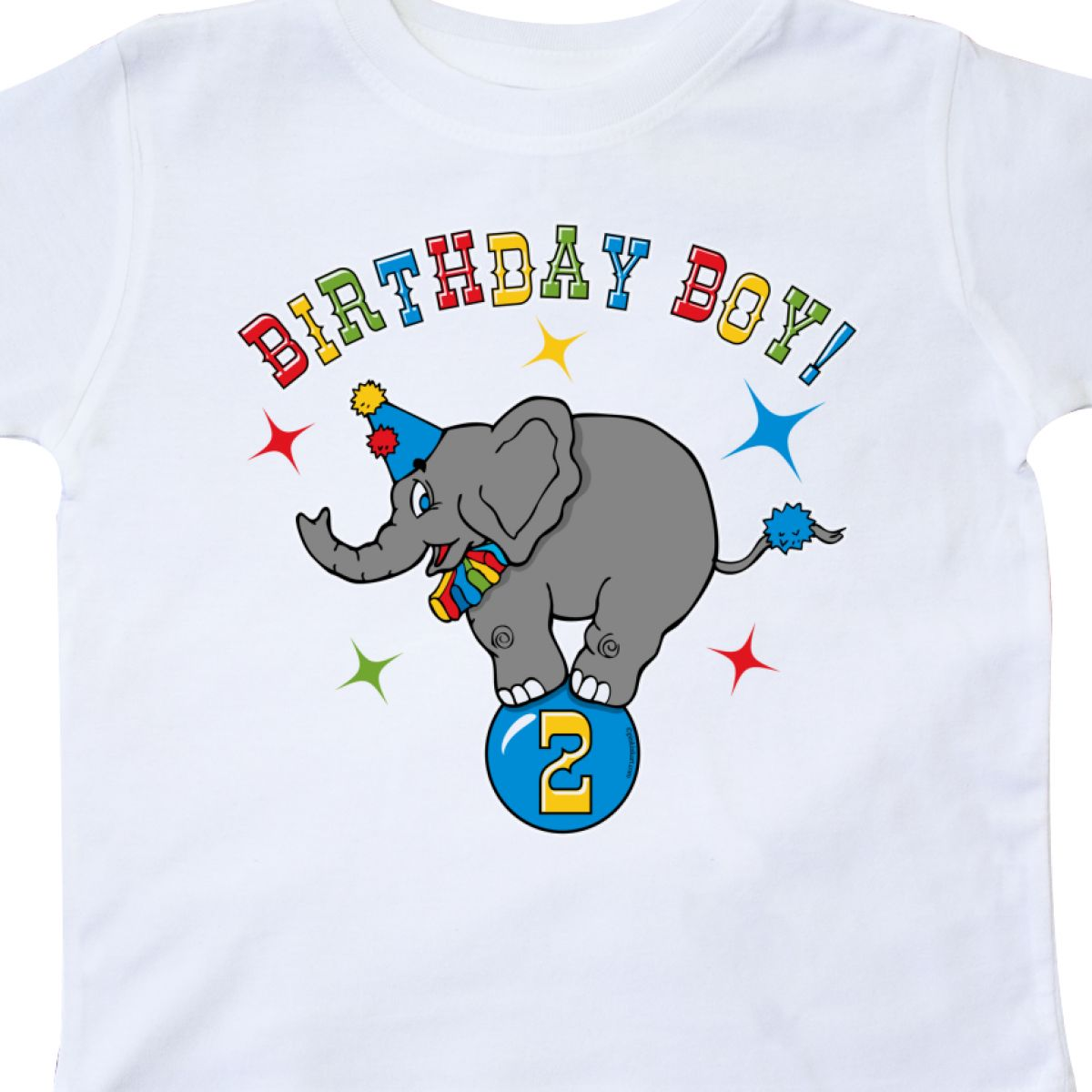 Inktastic Circus Elephant 2nd Birthday Boy Toddler T