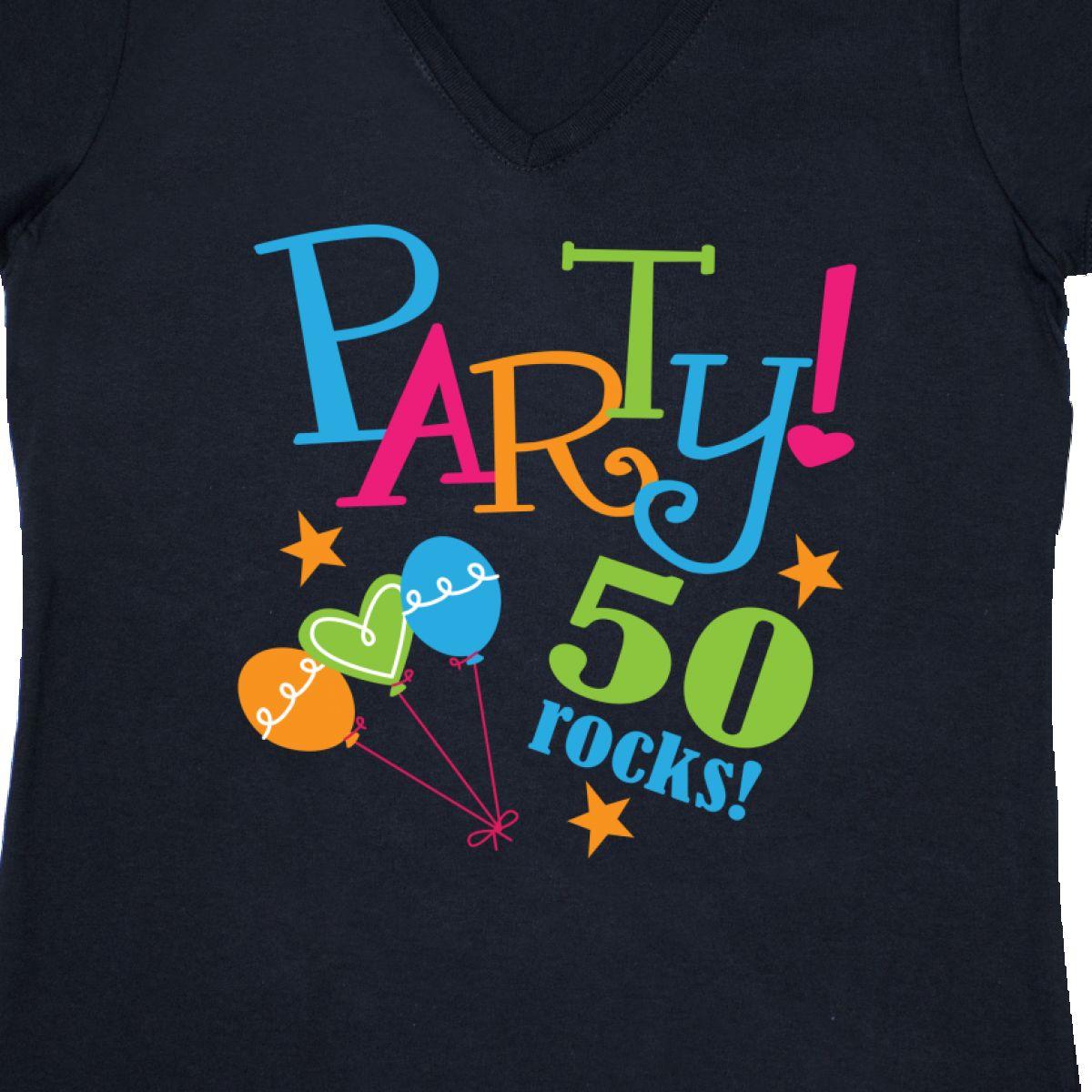 Inktastic 50th Birthday Party Gift Women 039 S V