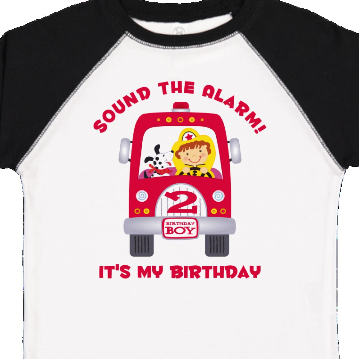 Inktastic Fire Truck 2nd Birthday Boy Toddler T