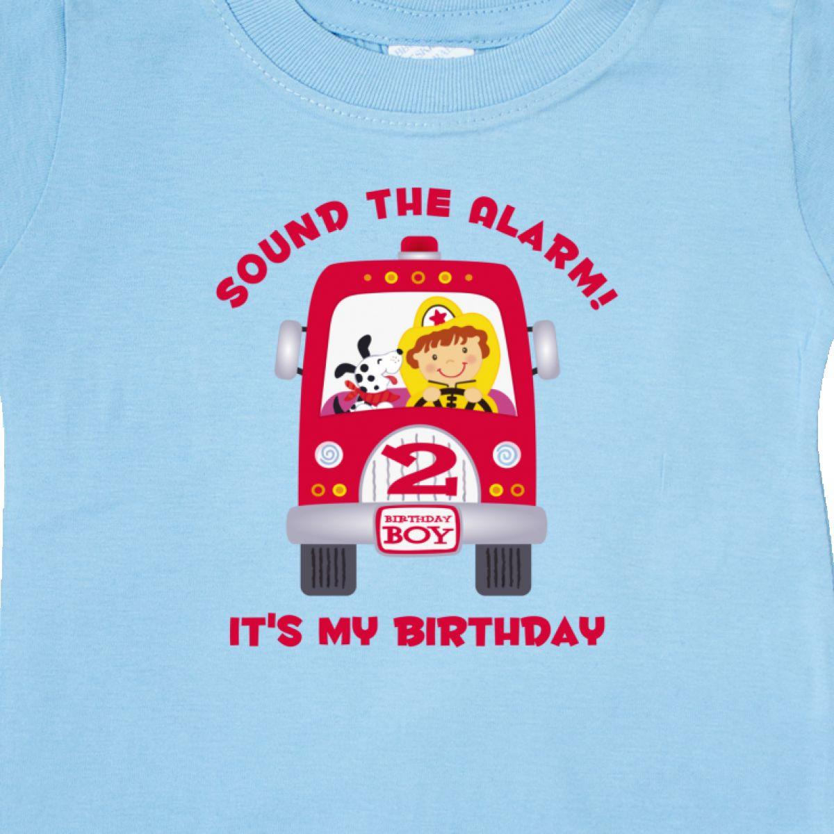 Inktastic Fire Truck 2nd Birthday Boy Baby T
