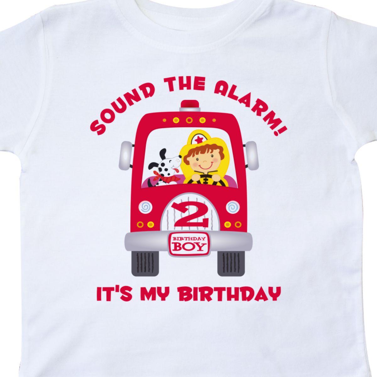 Inktastic Fire Truck 2nd Birthday Boy Toddler T