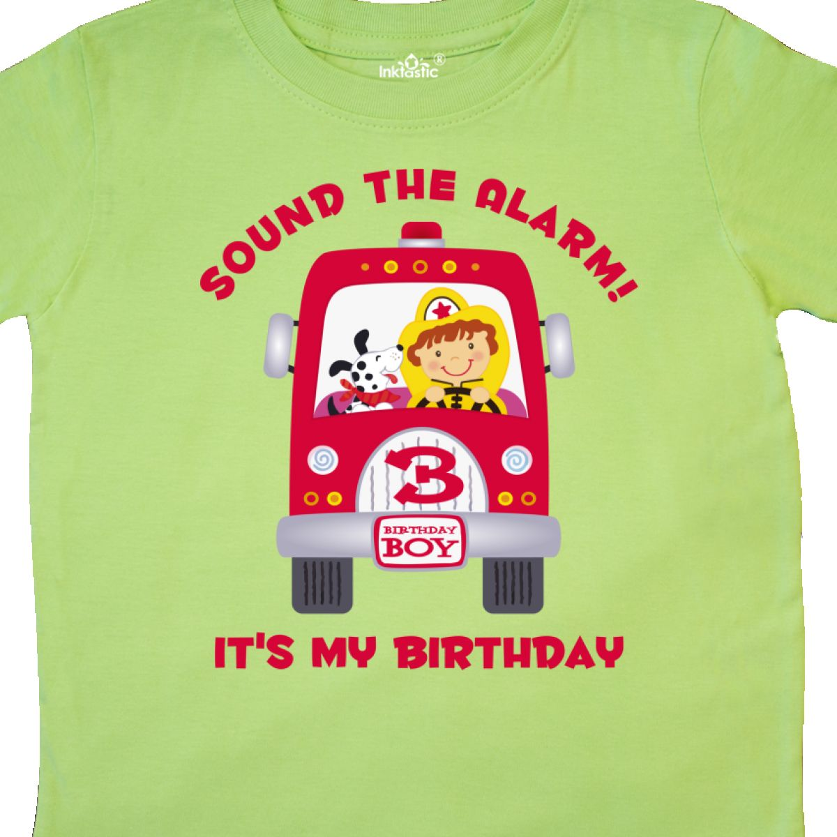 Inktastic Fire Truck 3rd Birthday Boy Toddler T