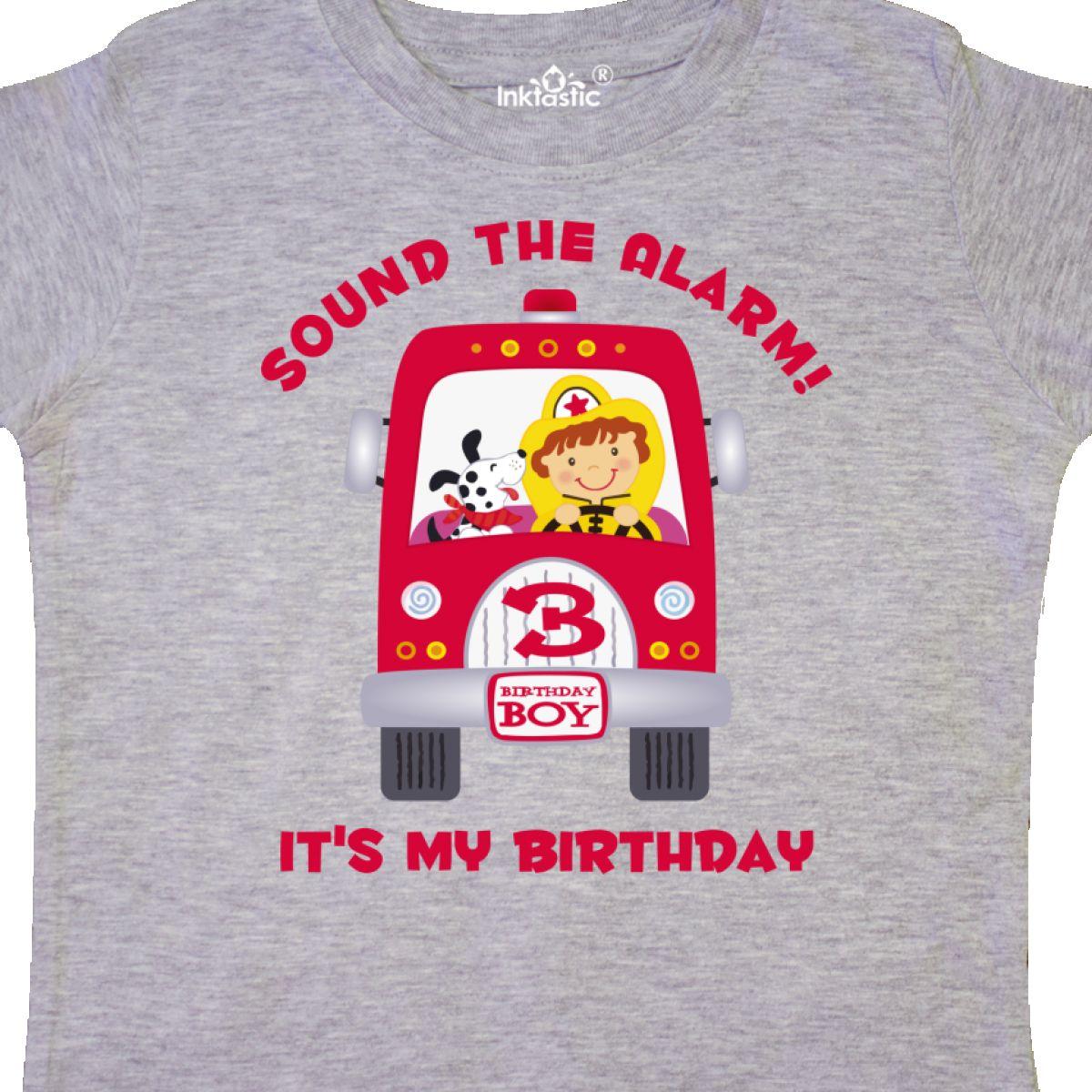 Inktastic Fire Truck 3rd Birthday Boy Toddler T