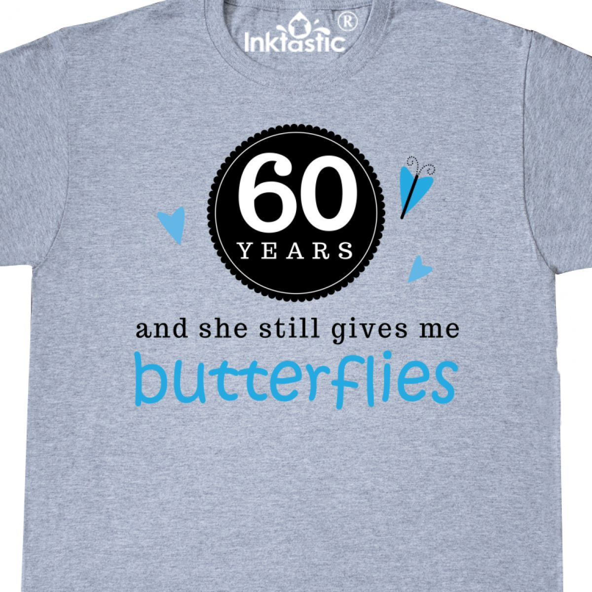 Inktastic 60th Anniversary Gift For Him T-Shirt Funny Wedding Idea 60 Year Mens