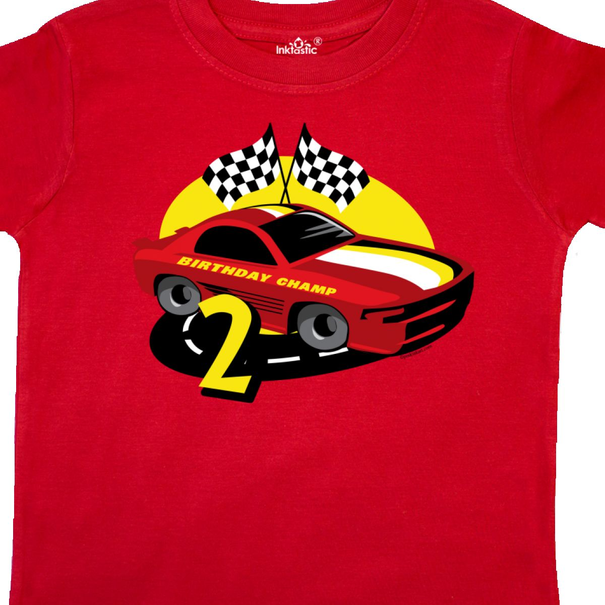 Inktastic Race Car 2nd Birthday Toddler T Shirt
