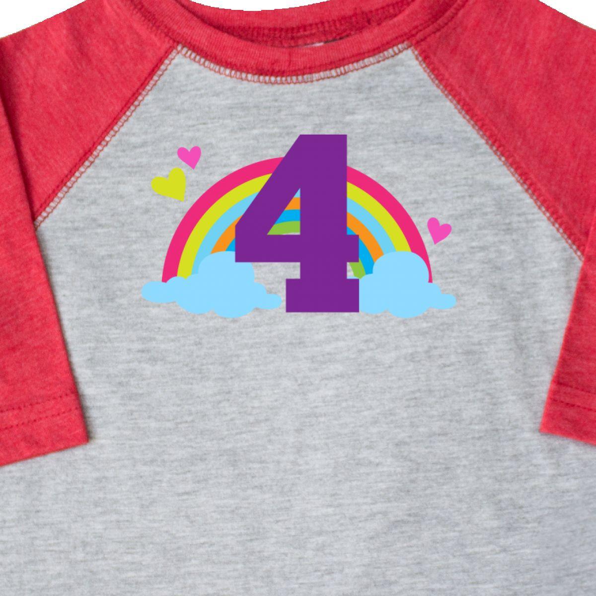 Inktastic-4th-Birthday-Rainbow-Toddler-T-Shirt-Fourth-Number-Four-Girls-Cute-Kid thumbnail 8