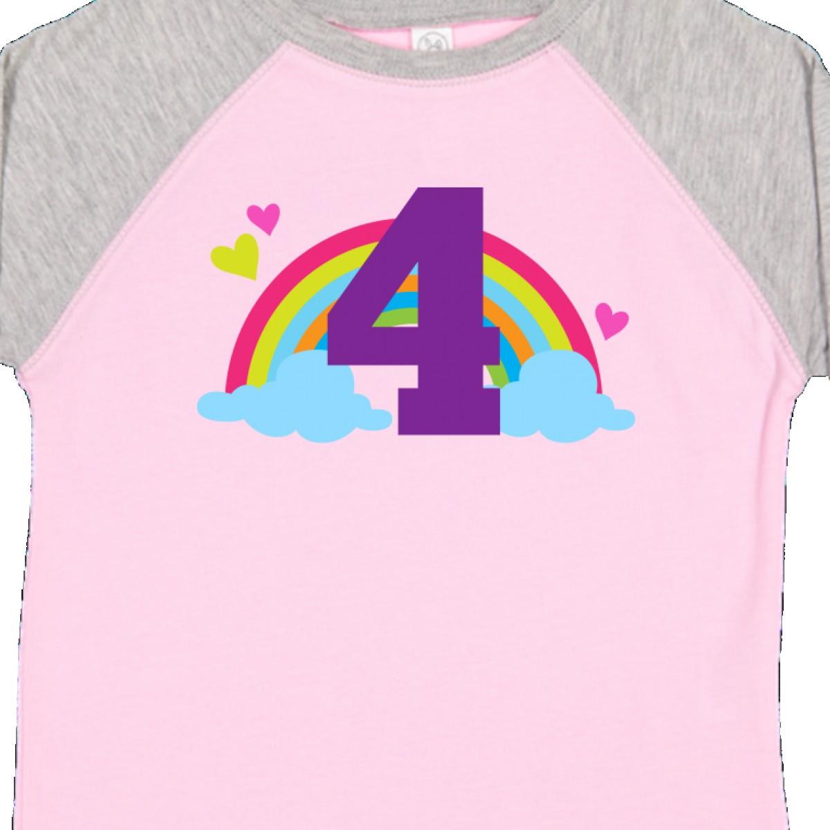 Inktastic-4th-Birthday-Rainbow-Toddler-T-Shirt-Fourth-Number-Four-Girls-Cute-Kid thumbnail 18