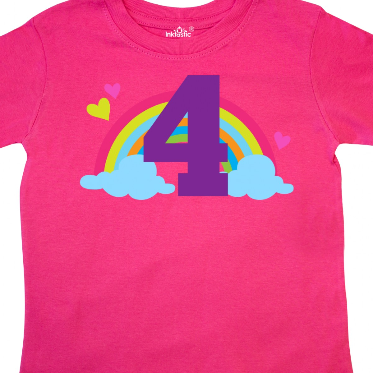 Inktastic-4th-Birthday-Rainbow-Toddler-T-Shirt-Fourth-Number-Four-Girls-Cute-Kid thumbnail 12